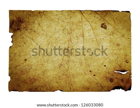 Old sheet of paper - stock photo