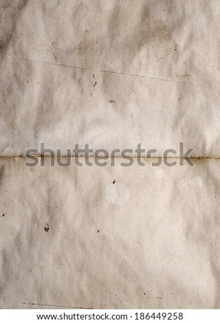 old sheet of paper for background - stock photo