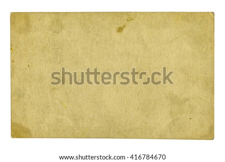 old sheet of paper isolated on white, old paper texture