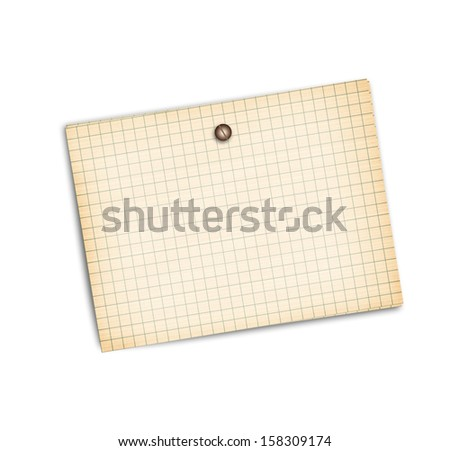 Old sheet of paper on a white background isolated - stock photo