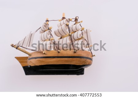 Old Ship on a white background