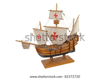 Old Ship - Santa Maria - stock photo