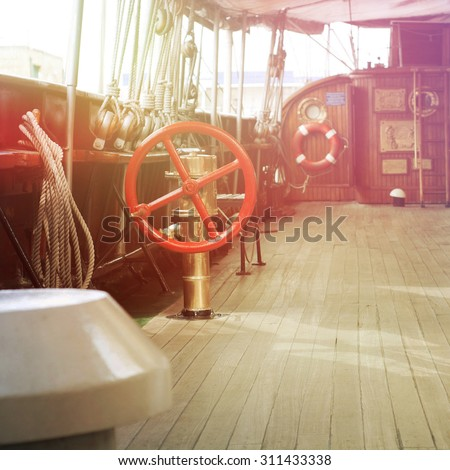 Old ships  - stock photo