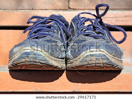 old shoe - stock photo