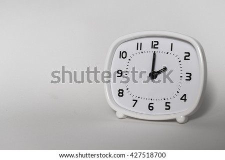 old, sign, concept, business, symbol, time, white, background, style, vintage, black, hour, clock, minute, table, icon, retro, number, watch, timer, alarm, second, countdown, deadline, monochrome - stock photo
