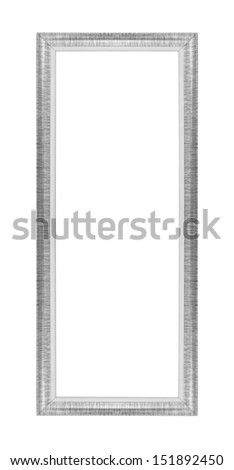 Old silver picture frames. Isolated on white background - stock photo