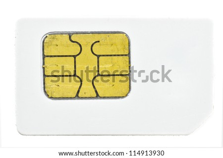 old simcard - stock photo