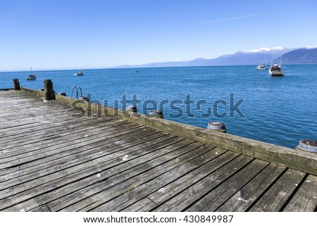 old small wooden pier