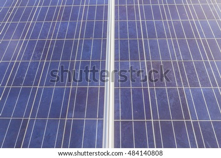 Old solar cells surface can be used as background