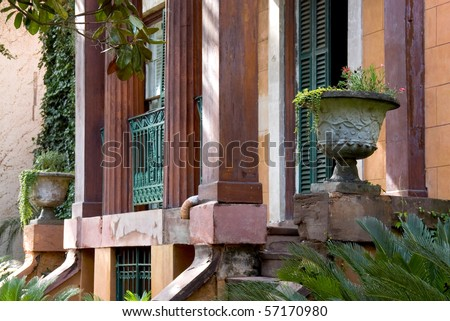 Old southern house detail - stock photo