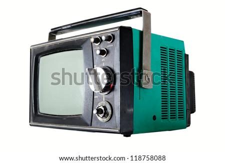 old Soviet TV - stock photo