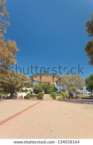 Old Spanish heart of Los Angeles. USA. California. - stock photo