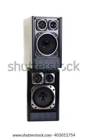 old speaker - stock photo