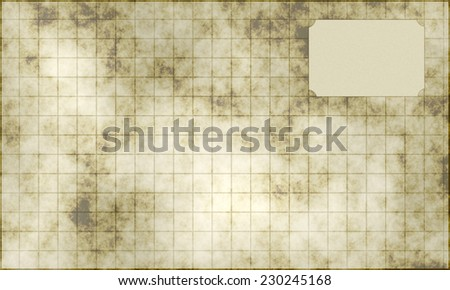 old squared paper sheet - stock photo