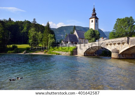 Old St. John church at Bohinj lake, Slovenia