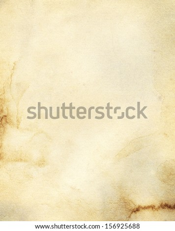 old stained vintage paper background - stock photo