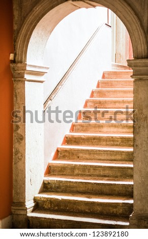 old staircase at a historic building