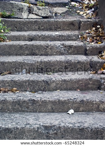 old stairs - stock photo