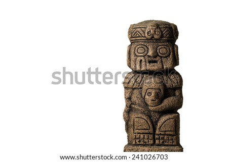 Old statue idol from south america