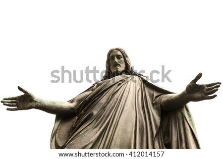 old statue of Jesus Christ