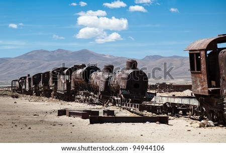 Old Steam Engine Wreck - stock photo