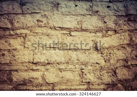 Old stone and brick texture. Wall background.