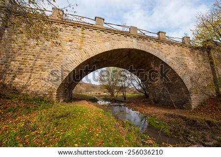 old stone bridge in rural areas