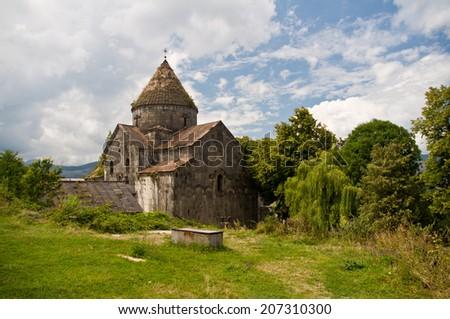 old stone church in Georgia - stock photo