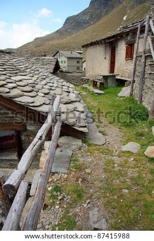 old stone houses - Angeloga Alps (Chiavenna, Lombardy)