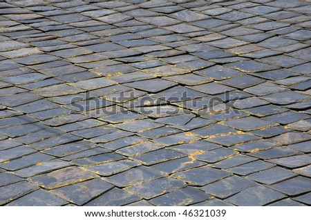 old stone roof texture - stock photo