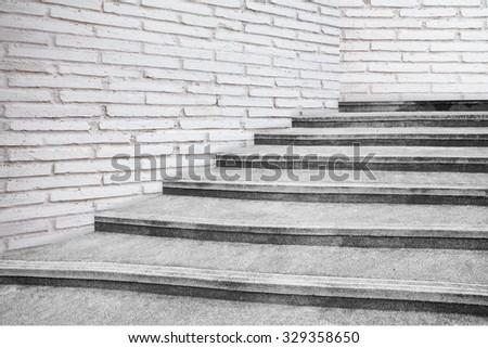 Old stone staircase - stock photo