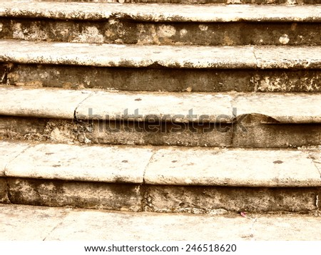 old stone stairs  - stock photo