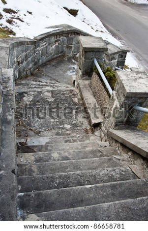 Old stone stairs leading down