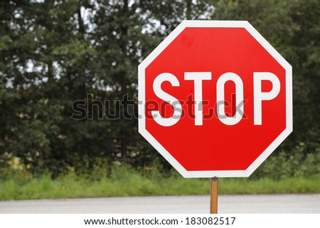 old STOP traffic sign.