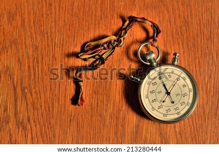 Old stopwatch - stock photo