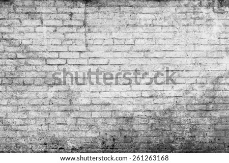 Old street brick wall for background - stock photo