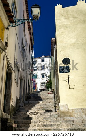 Old street in Alfama, Lisbon