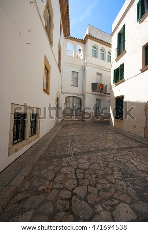 Old street in  Sitges ,Catalonia,Spain