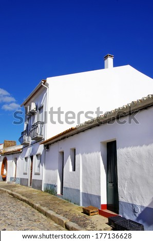 Old street in south of Portugal. - stock photo