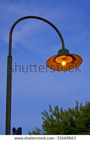 old street lights - stock photo