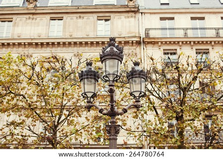 old streetlight on the park - stock photo