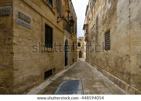old streets in mdina