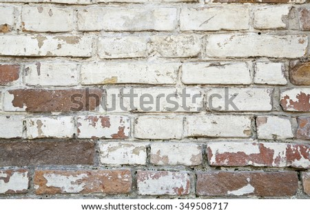 old structure of brick wall as background