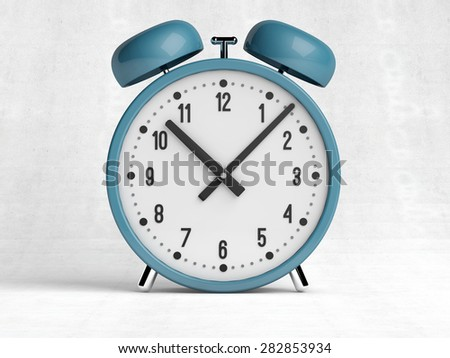 old style alarm clock 3d rendering - stock photo
