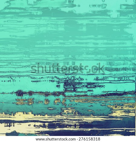Old-style background, aging texture. With different color patterns: yellow (beige); blue; cyan - stock photo