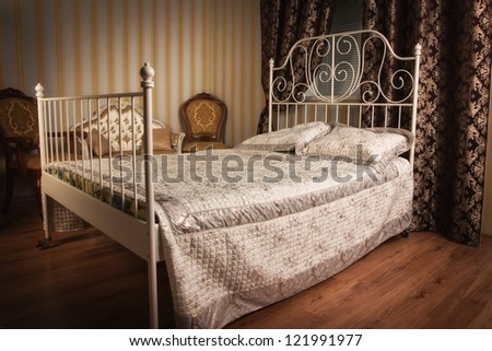 Old style bed in the elegant bedroom. Old Bedroom Stock Images  Royalty Free Images   Vectors   Shutterstock