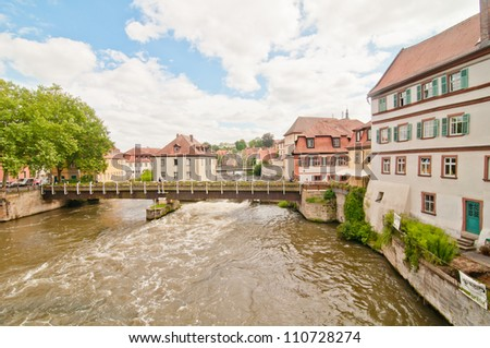 Old style buildings in Bamberg, Bavaria, Germany - stock photo