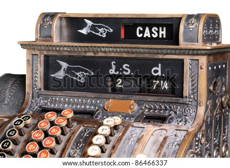 Old-style cash register. - stock photo