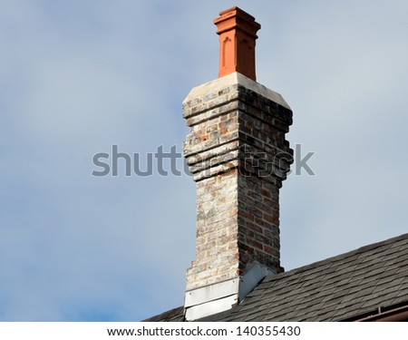 Old style chimney at historic St. Augustine, Florida, USA. - stock photo