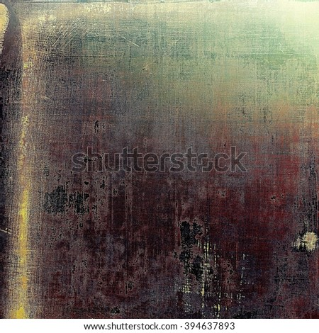 Old style decorative composition or template design with textured grunge elements. With different color patterns: green; brown; purple (violet); gray; pink